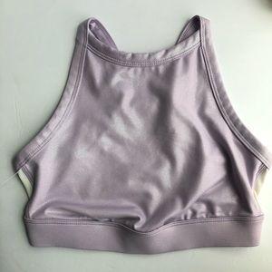 JOY LAB | purple sparkly sports bra